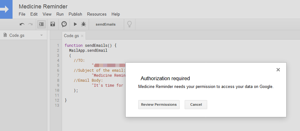 send automated emails via Google Script